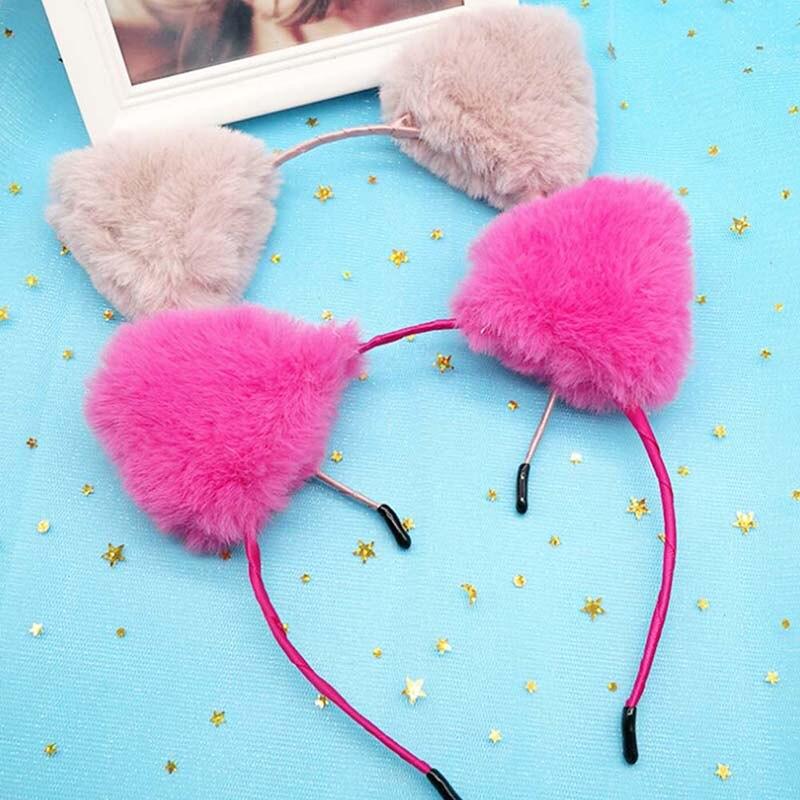 Plichtmatig 1 Pcs Koreaanse Stijl Vrouwen Kids Meisjes Mode Vos Pluche Kat Oren Haar Hoofdband Haarband Haarbanden Haaraccessoires Haarspeldjes Hoge Veerkracht