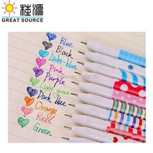 GGREAT  SOURCE Colorful gel pen 10pcs per set 2set pack high quality assorted color for drawing and marking