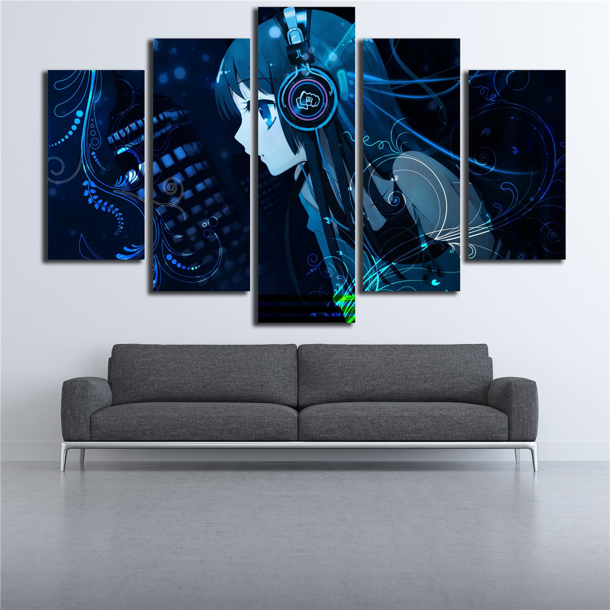 Buy 5 pieces cartoon dj girl wall art hd for International home decor stores