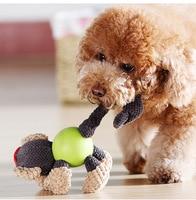 Mol bite sound tương tác quả bóng cao su bông búp bê sang trọng knot đồ chơi pet squeak đồ chơi, của động vật mô hình bằng giọng nói đồ chơi, dog chew toy