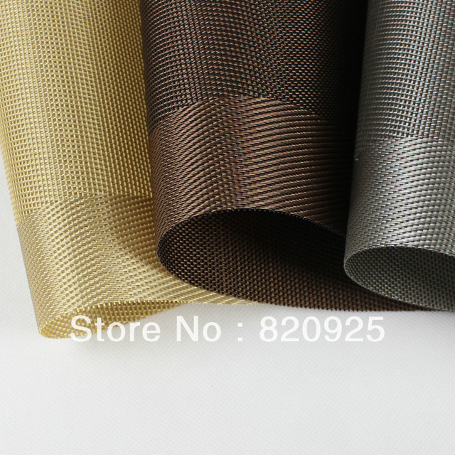 free shipping 4 x vinyl placemats bar restaurant table mats in deep chocolate color