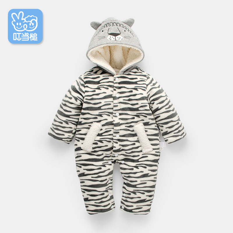 Dinstry autumn and winter thickening baby suits baby boy and baby girl romper newborn baby cotton romper cotton dinstry 2018 spring and autumn newborn baby cotton long sleeve romper lion pattern