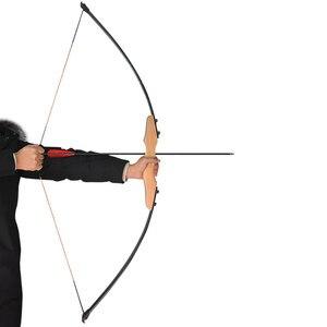 Image 2 - 1 комплект прямой лук для стрельбы из лука 40 фунтов карбоновые стрелы сменные наконечники черные синие резиновые перья Рекурсивный лук стрельба Охота Аксессуары