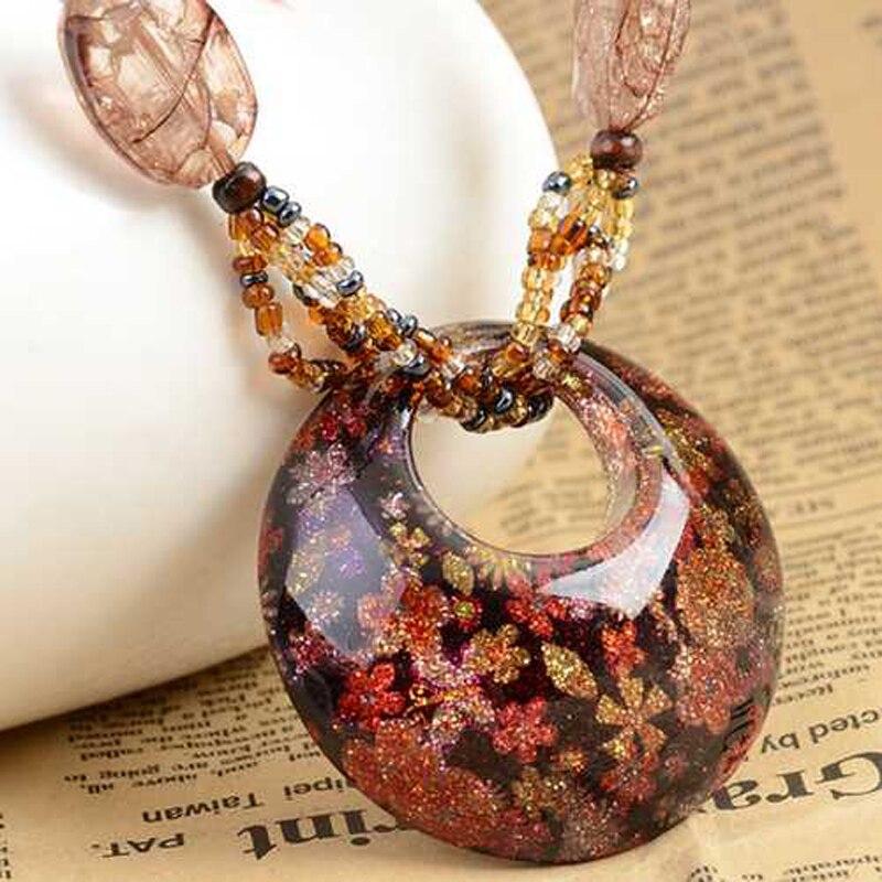 Gros bohème Vintage ethnique copie cristal Long fait à la main mala perle colliers et pendentifs pour les femmes robe déclaration collier