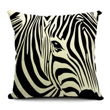 zebra stripe coussin couvre chat sweety kitty doux kitty lin coton oreiller cas minimaliste style chambre