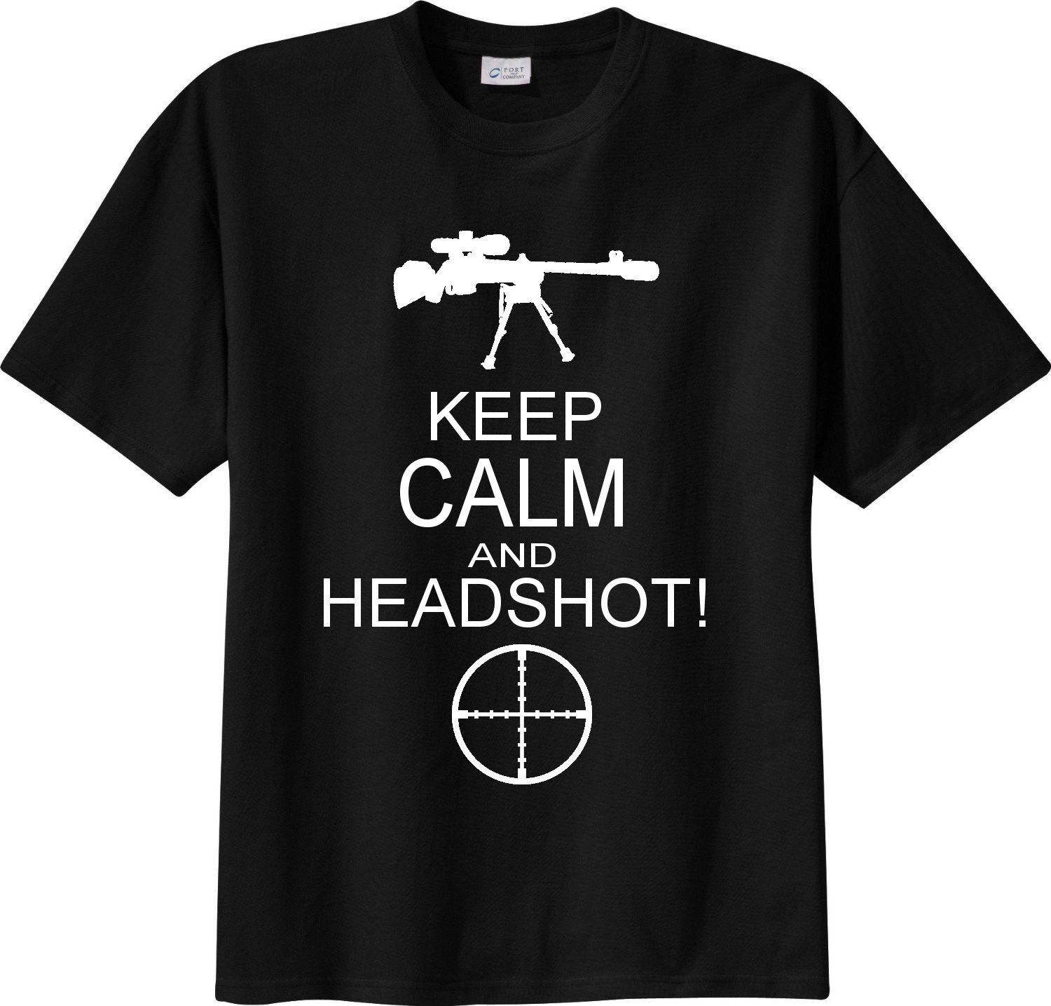 T-SHIRT sniper cecchino KEEP CALM HEADSHOT fps mmo image