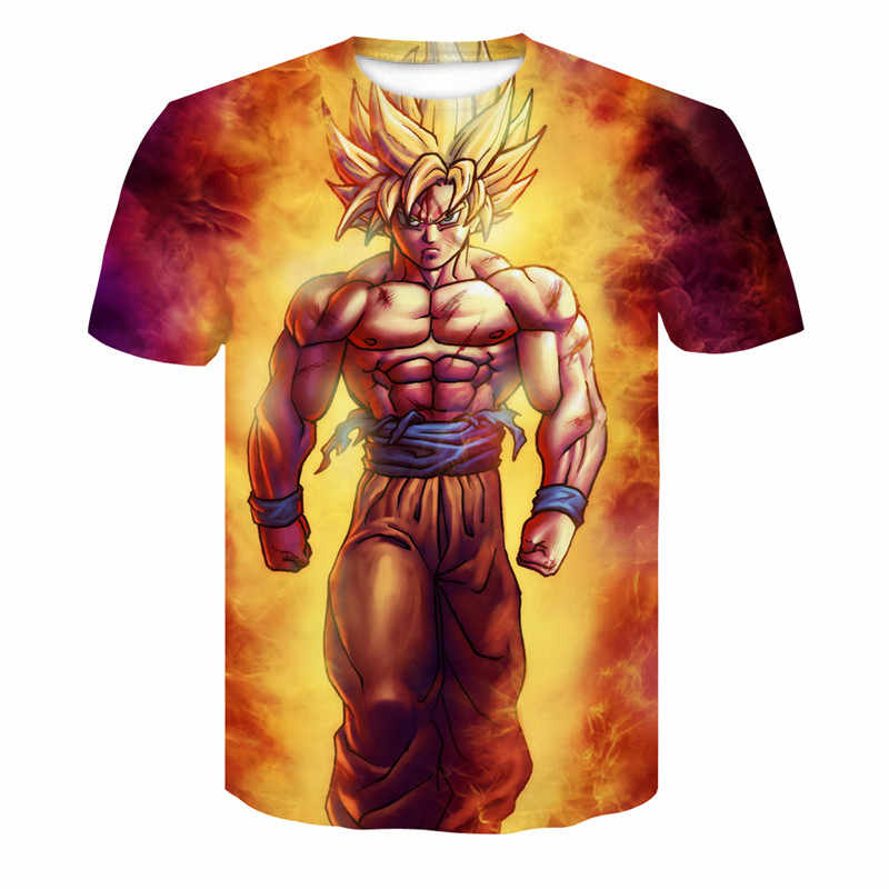 f9a1c535fa The new coat T-shirt anime Dragonball Z T-Shirt Tee Shirt child 3D Shirt  Short Sleeved Pullover and Goku