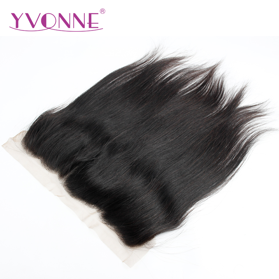 YVONNE Straight Brazilian Virgin Hair 13x4 Lace Frontal Natural Color 100% Human Hair Products Free Shipping