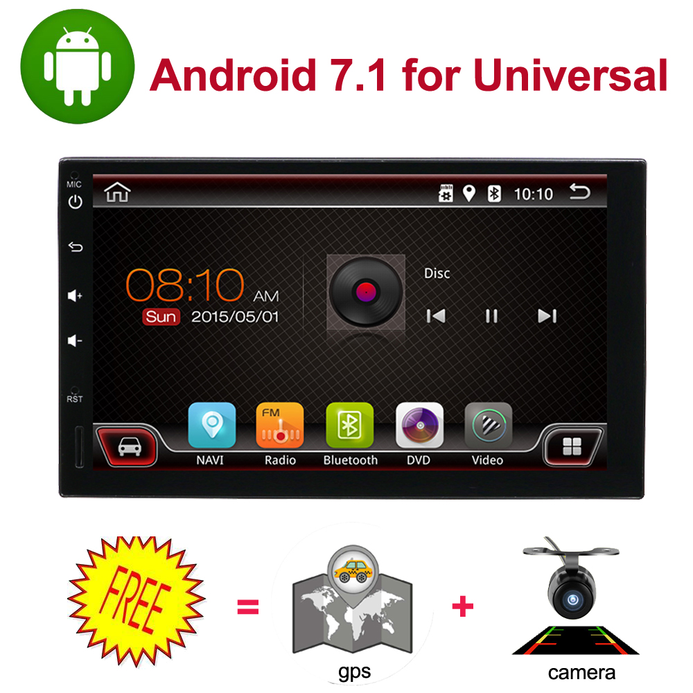 universal car multimedia player 7 quad core 1024 600 car dvd player 2din android 8 1