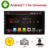 universal car multimedia player 7 quad core 1024*600 car dvd player 2din android 8.1 fit for nissan qashpai WIFI BT RADIO rds