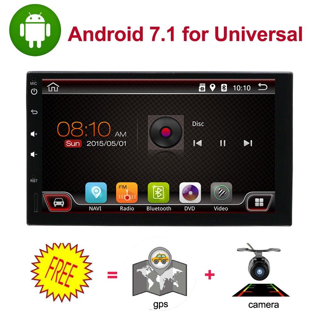 universal car multimedia player 7 quad core 1024*600 car dvd player 2din android 7.1 fit for nissan qashpai tiida WIFI BT RADIO