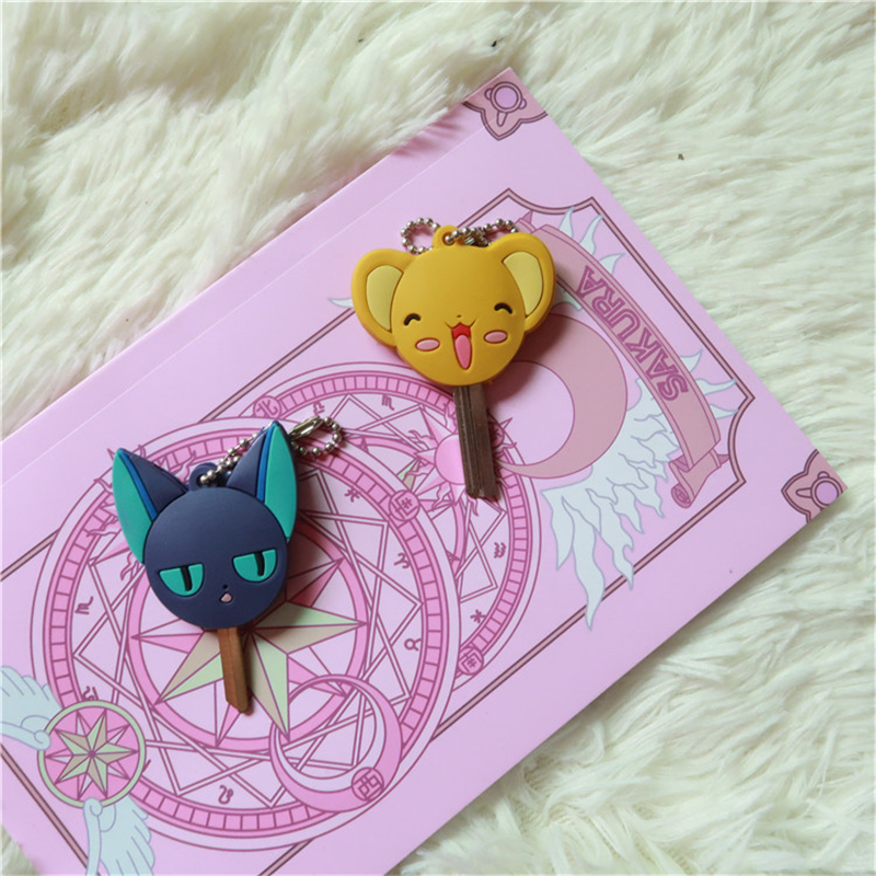 Anime Card Captor KINOMOTO SAKURA Pet CERBERUS Cosplay Porp Key Chain Girls Boys Accessories Cute Pendant Gift Collection