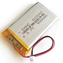3,7 в 900 мАч литий-полимерная LiPo аккумуляторная батарея с JST 1,25 мм 2-контактный разъем 603048 для Mp3 MP4 gps bluetooth камеры