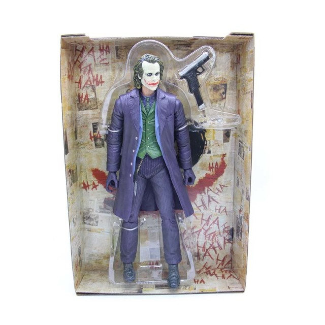 26 cm NECA The Joker Batman Dark Knight Figura PVC Brinquedo Da Collezione di
