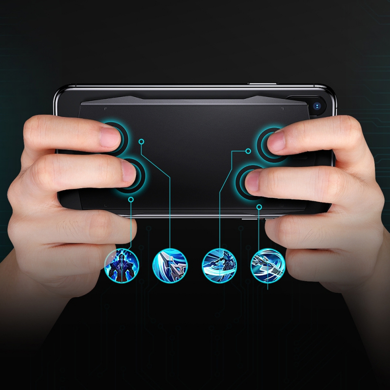 Newest Gaming Gamepad Touchpad Trigger Bluebooth Mobile Game Pad Phone Touch Back Board For iOS Android
