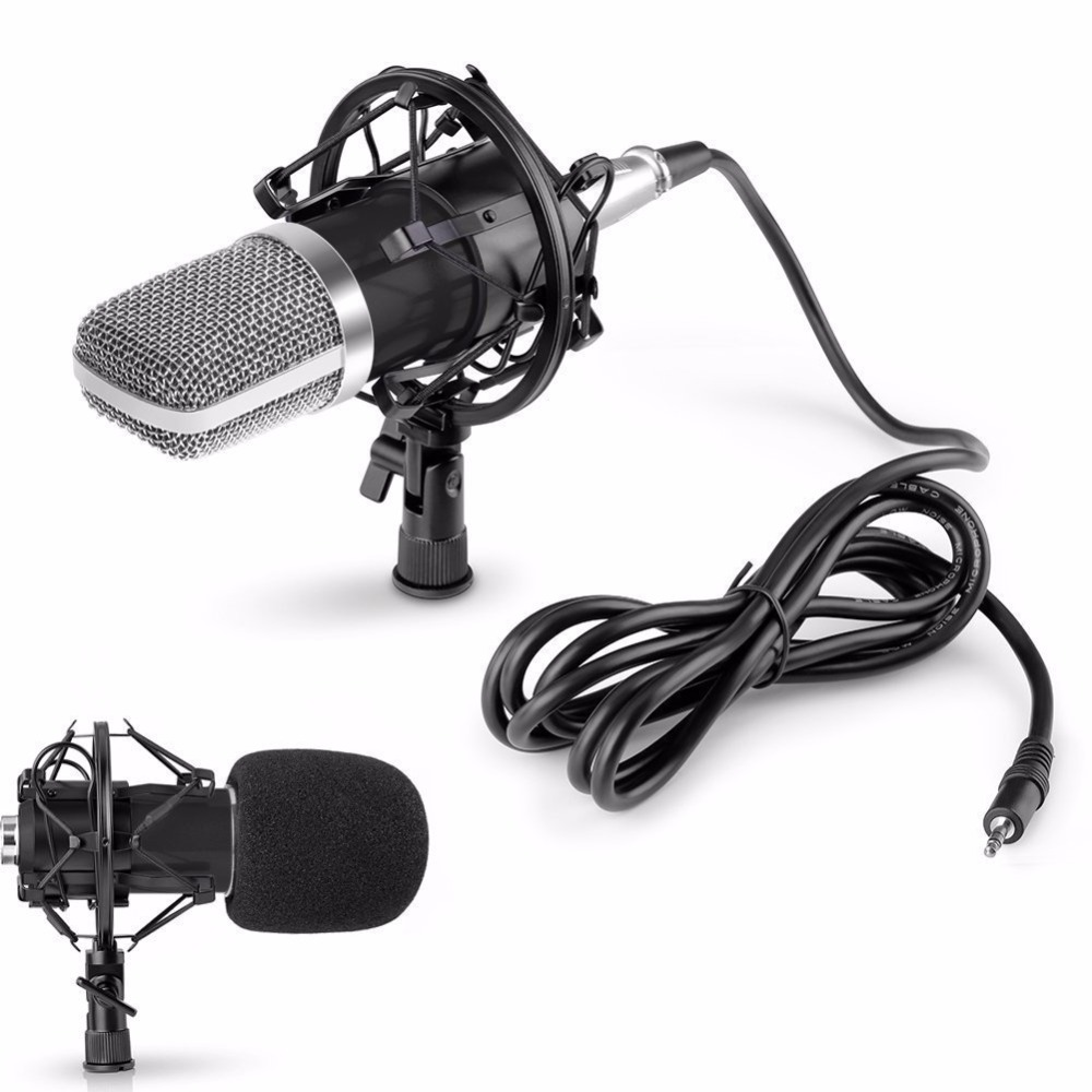 professional wired condenser microphone for audio studio vocal recording mic ktv karaoke. Black Bedroom Furniture Sets. Home Design Ideas