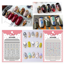 Newest 1 Sheet Flower Series 3D Nail Transfer Sticker Decal stamping export japan designs Manicure Nail Art Decoration 2018 flamingo nail stickers animal series water decal ocean cat plant pattern 3d manicure sticker nail art decoration
