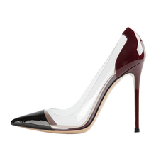 2019 New Black Genuine Leather 10cm Thin High Heels Fashion Wedding Shoes Women Pumps Woman Brand Design C028B