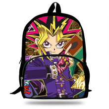 16inch Cool Cartoon Game Yu-Gi-Oh Backpack For Kids School Bags Boys Trave Bag For Girs Gift(China)