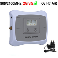 Special Offer DUAL BAND 2G 3G 900 2100mhz Mobile Signal Booster Cell Phone Repeater Cellular Amplifier