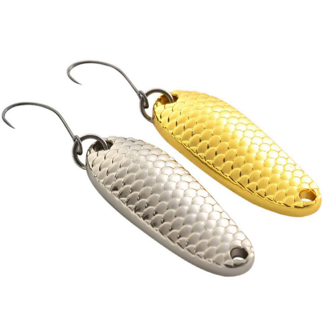 2Pcs Metal Spoon Fishing Lure Micro Freshwater Fishing Tackle 1.5g /3g /5g Silver/Gold Mini Hard Bait Isca Artificial Pesca