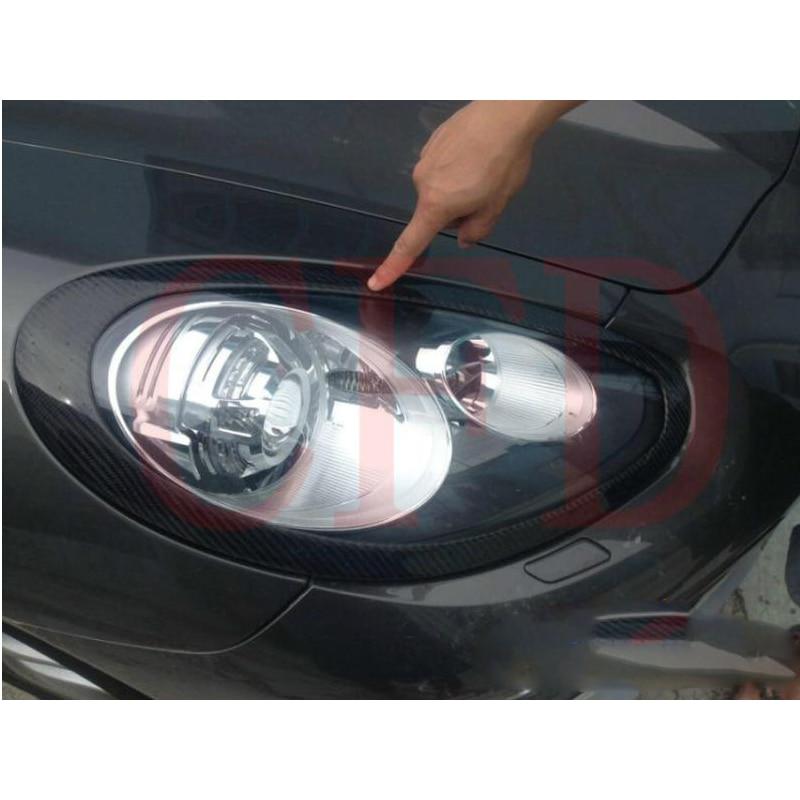 for Porsche Panamera Carbon Fiber Eyebrow Eyelid front Headlight Cover 2011~2014
