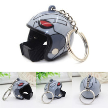 Hot sale Gadgets Warrior Style Helmet Key Chains Pendant Key Rings