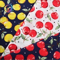 2017 New Arrived Cherry Series Sewing Cloth Doll Sheet Skirt Dress Printed Cotton Poplin Patchwork Material