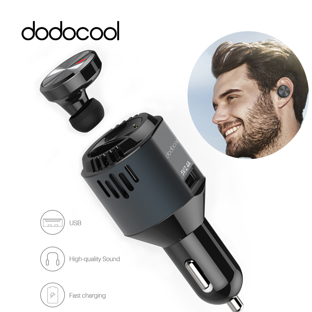 dodocool 3 in 1Multi-functional Car Charger Wireless Bluetooth Earphone Car Charger Bluetooth Headset Air Purifier Oxygen Bar