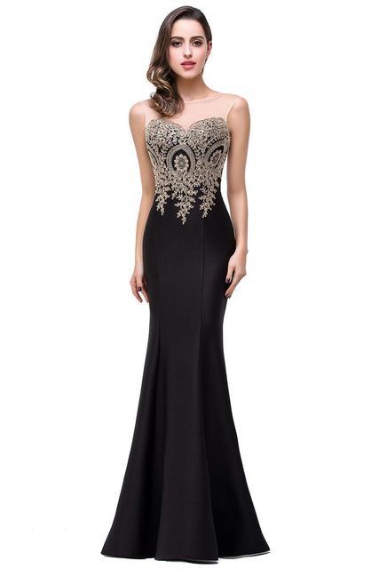 Sexy Backless Appliques Burgundy Mermaid Lace Long Prom Dresses Royal Blue Black Evening Party Dress Vestido de Festa Longo 4