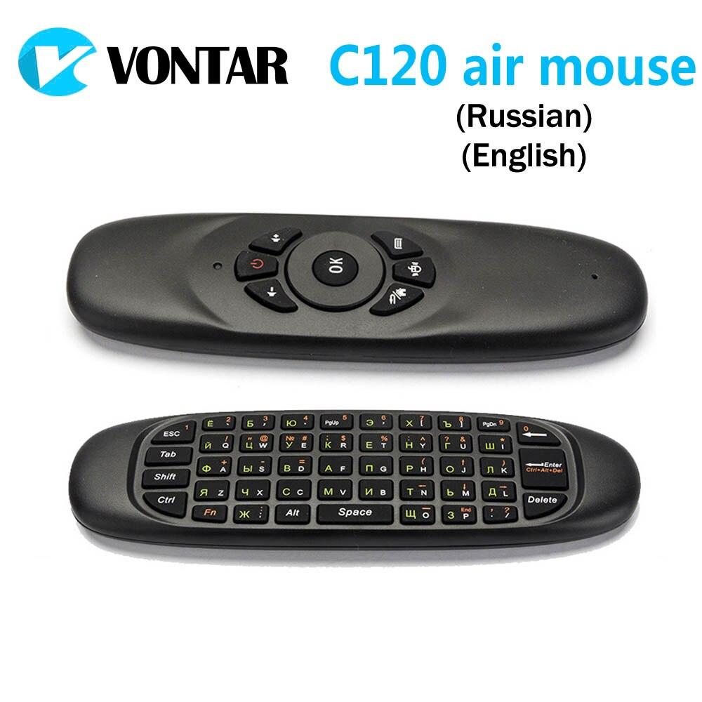 [Подлинный] VONTAR 50 шт. гироскоп Fly Air Мышь T10 C120 игровой мини-клавиатура Android 2,4 ГГц Беспроводной игры клавиатура для мини-ПК ...