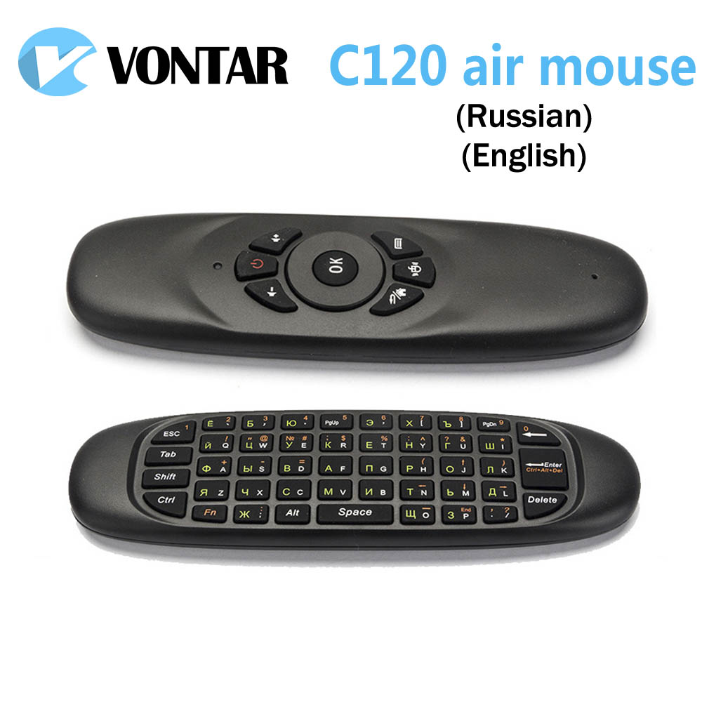 [Genuine] VONTAR 50pcs Gyroscope Fly Air Mouse T10 C120 Gaming mini keyboard Android 2.4GHz Wireless Game Keyboard For Mini PC