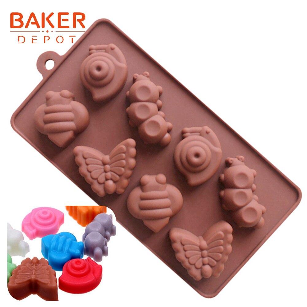 Molde Chocolate Amor Corazón Día de San Valentín Bodas Lollipop Lolly Molde 6 formas