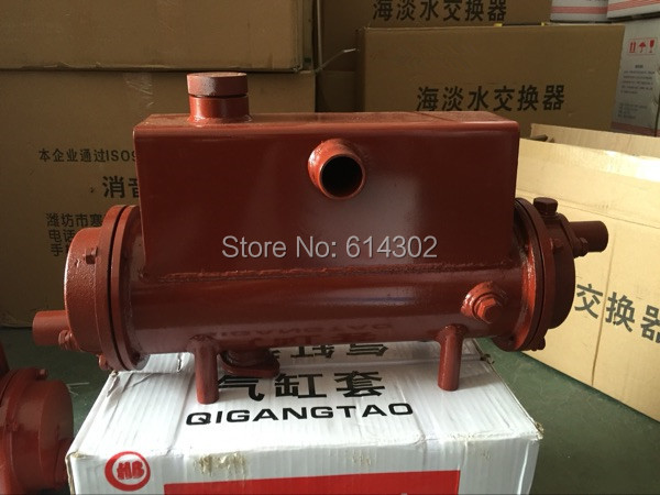 US $272 17 5% OFF|R4105 diesel engine sea and fresh water cooled and heat  exchanger R4105C R4105ZC marine engine/boat engine parts-in Generator Parts