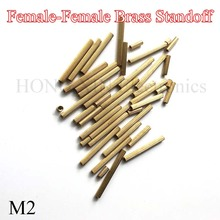 M2*3/4/5/6/7/8/9/10/11/12/13/14/15/16/17/18/19/20/25*30mm Brass Round Standoff Spacer Female M2 Threaded