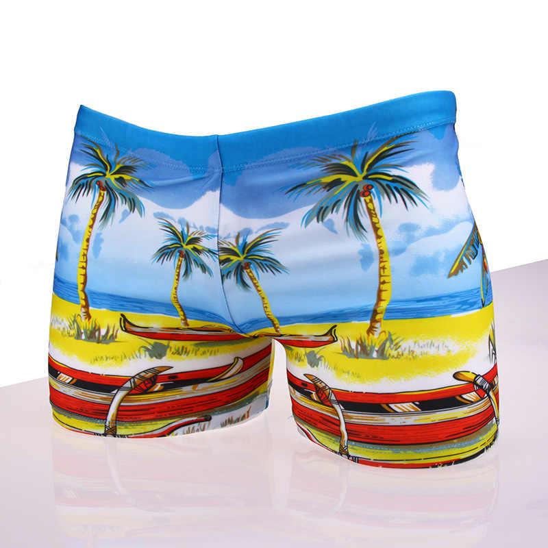 الرجال سراويل للسباحة متعددة يطبع ملابس السباحة ملخصات السباحة الشاطئ سراويل بوكسر ارتداء ثوب السباحة