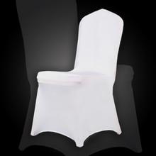 Германия отправить 100 шт. Белый Spandex Party Свадебный чехол для Обложки для свадьбы Белый Универсальный Stretch Polyeste Lycra Chair Cover