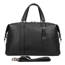 J.M.D Retro Travel Bags Real Leather Handbags Men Business Luggage Bag Weekend 6007A