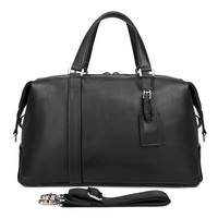 J.M.D Retro Travel Bags Real Leather Handbags Men Business Luggage Bag Weekend Bag 6007A