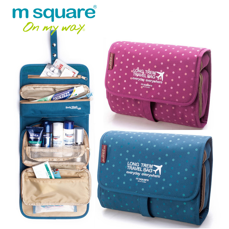 M Square Beautician Travel Cosmetic Bag Organizer Toiletry Makeup Bag Organizador Wash Make Up Bag Bolsa Neceser Maquillaje Case brand designer makeup bags sequins luxury cosmetic bags organizer women toiletry bag wash beautician professional cosmetic case