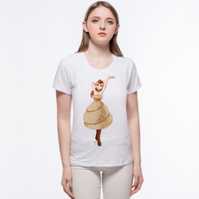 New Women O-Neck Slim Basic Tees pineapple design cartoon lady Cotton Elastic Casual Tshirt Summer T shirt Tops L10-a7