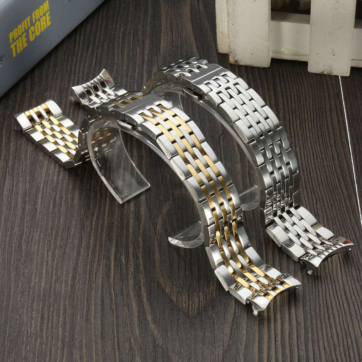 New durable stainless steel wrist bracelet strap 19mm for Stainless steel jewelry durability