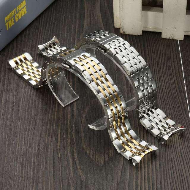 New durable strap pulseira de pulso de aço inoxidável de 19mm de substituição acessórios t41 pulseira com botão de implantação para tissot