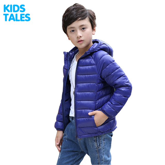 Children's Outerwear Boy and Girl Winter Warm Hooded Coat Children Cotton-Padded Clothes boy Down Jacket kid jackets 3-13 years