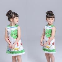 Girls Dresses Brand Autumn Winter Princess Dress Kids Clothes Graffiti Print Design For Baby Girls Clothes