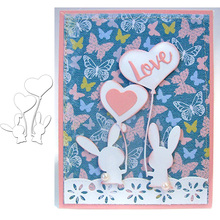 Rabbit Animal Heart Balloon Metal Cutting Dies Stencils for Scrapbooking Embossing Die Paper Cards Making Decorative New 2019