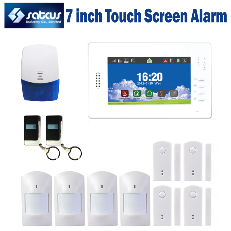 wireless GSM alarm system multi-functions LCD display touch screen home security alarm ios and android app support SG-216 2017 hot bluetooth multi function audio intelligent family host background music system lcd screen touch light dimmer 2 speakers