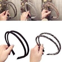 New Hairbands Full Drilling Double Thin Hairband Ladies Korean Hair Accessories Girls Scrunchies Headdress