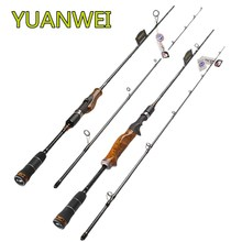 YUANWEI Lure Fishing Rod 1.98m 2.1m 2.4m 2 Section Carbon Fiber Spinning Rod ML M MH Power Fast Action Wood Handle Vara De Pesca yuanwei 1 8m 2 1m spinning rod fast action m ml mh power casting rod carbon fiber fishing rod lure rod high quality b188