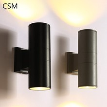 100-240Vac led wall light 6w10w18W IP65 double side color emitting outdoor surface mounted led wall lamp for fascade ,villa